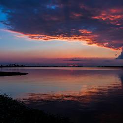 Palendijk zonsondergang