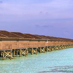 Reperende huisjes op Meeru Island