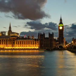 Londen - Houses of Parliament & Westminster Bridge