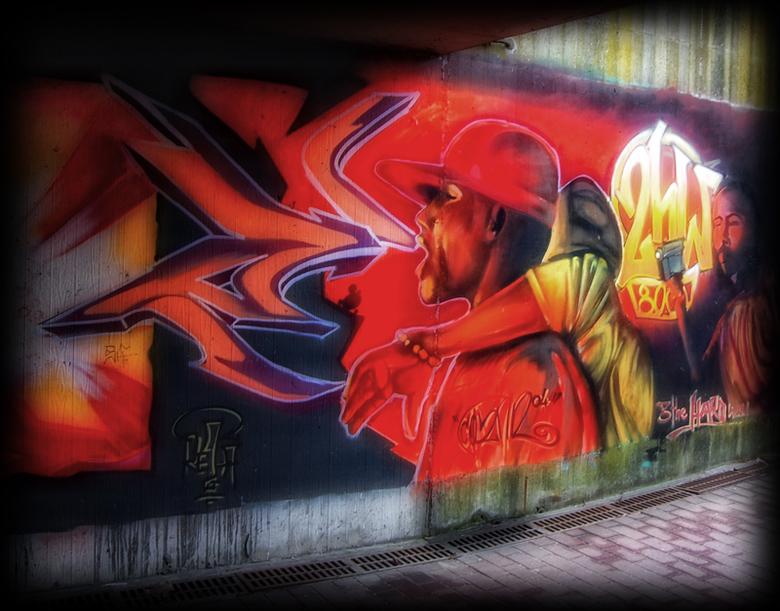 Straatkunst @ Brugge - Stukje straatkunst in Brugge