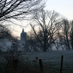 Kerk in de mist