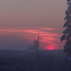 winter Finland sunset