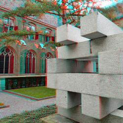 Binnenplaats Museum Catharijne Convent Utrecht 3D