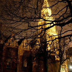 Martinitoren bij nacht