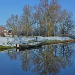 Winterse weerspiegeling