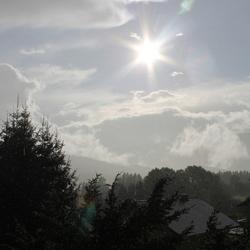 Rainy, sunny afternoon