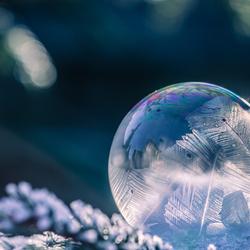 Bevroren zeepbel