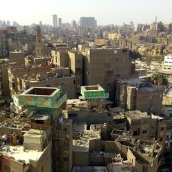de daken van Cairo