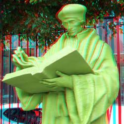 Statue Erasmus Schielandshuis Rotterdam 3D