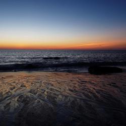 Eb tijdens zonsondergang
