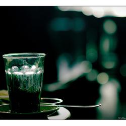 une thé vert bokeh svp