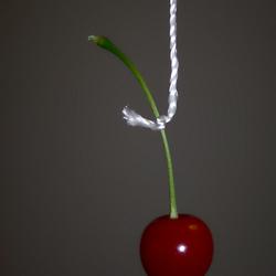 Kers aan touwtje