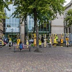 Demonstratie op 't plein