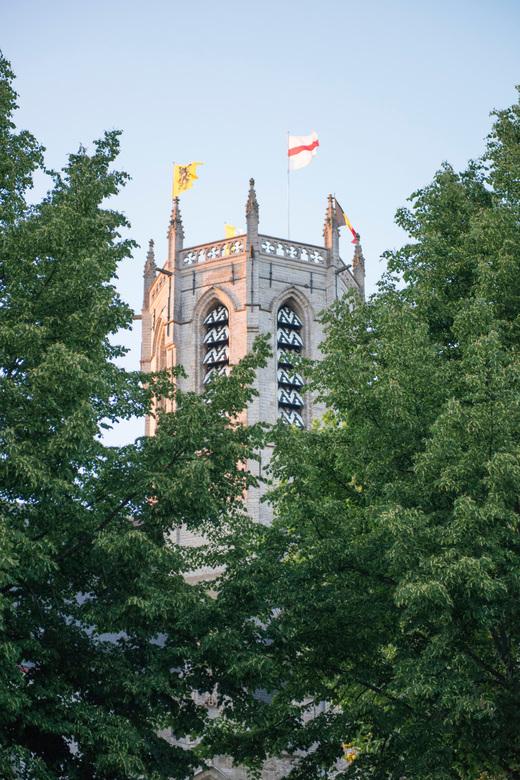 De Grote of Onze-Lieve-Vrouwekerk in Dendermonde - Vieringtoren van de Grote Kerk of Onze-Lieve-Vrouwekerk in Dendermonde (Oost-Vlaanderen).