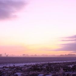 winter skyline Leeuwarden