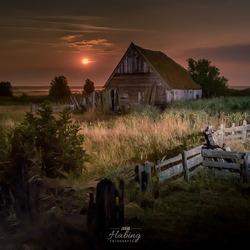 Texel bij nacht
