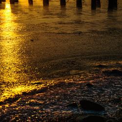 Uiterwaarden-zonsopkomst. 2