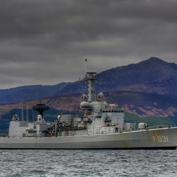 M - fregat in Schotland