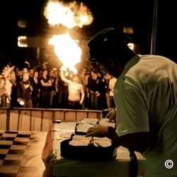 Turntable on Fire