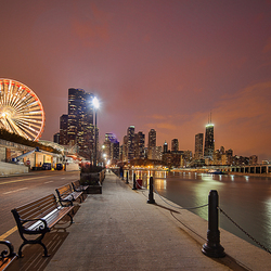 At the Navy Pier.