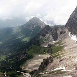 panorama vanaf het Dachstein massief