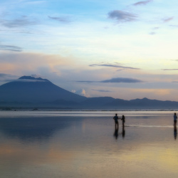 Mnt. Agung before sunrise