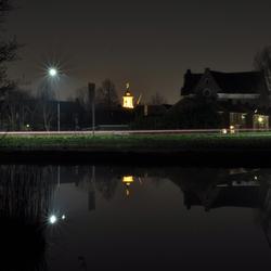Een windstille avond in Westzaan.
