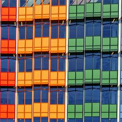 Kleurrijke panelen