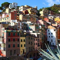 Italie-Dorp aan de kust