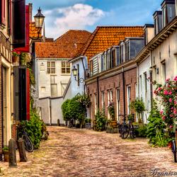 Een oud straatje in Amersfoort.