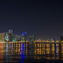 Miami - Skyline by night