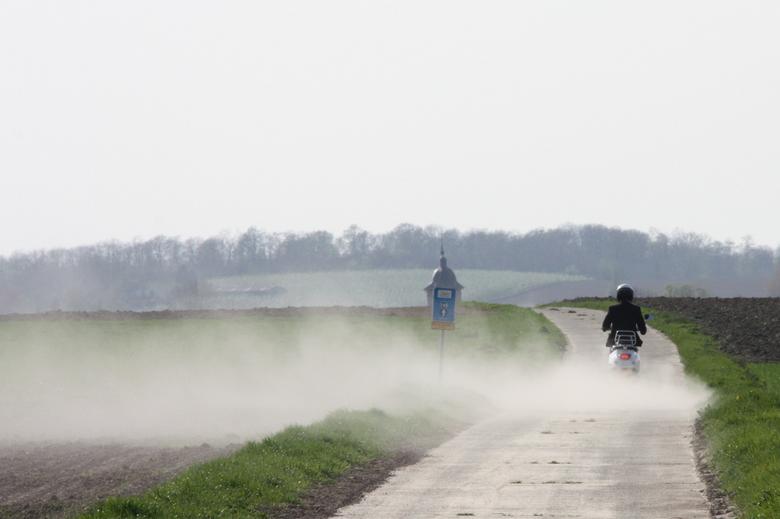 ver...stuiven - tijdens een fietstocht in België...