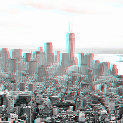 New York from Empire State Building 3D