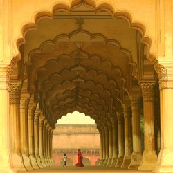 Zwevend in Agra Fort