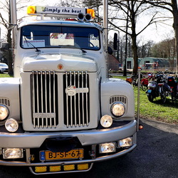 Oude Scania truck.
