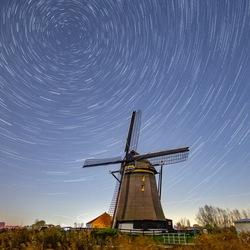 Star Trail bij Rietveldse molen