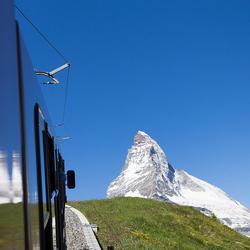 Matterhorn gezien vanuit Gornergratbahn