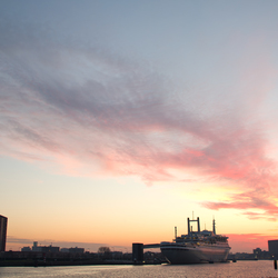 ss Rotterdam by sunset