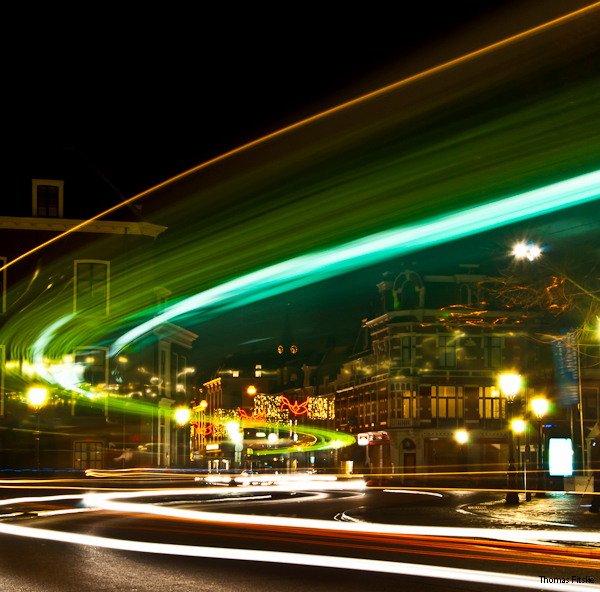 Lichtslinger 1 - Vrijdagavond in Utrecht foto's gemaakt, waaronder deze. Twijfel zelf tussen deze plaat en de volgende die ik zal uploaden. Daaro