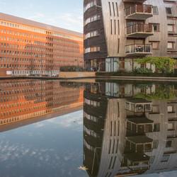 Paleiskwartier Den Bosch, begin van de avond.