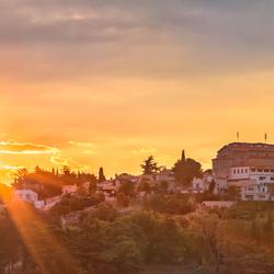 Sunrise boven Vrsar
