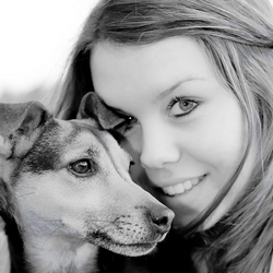 Marlijn met hond