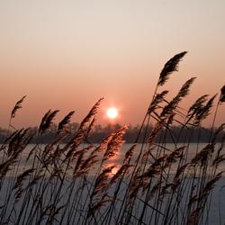 Sundown at ice