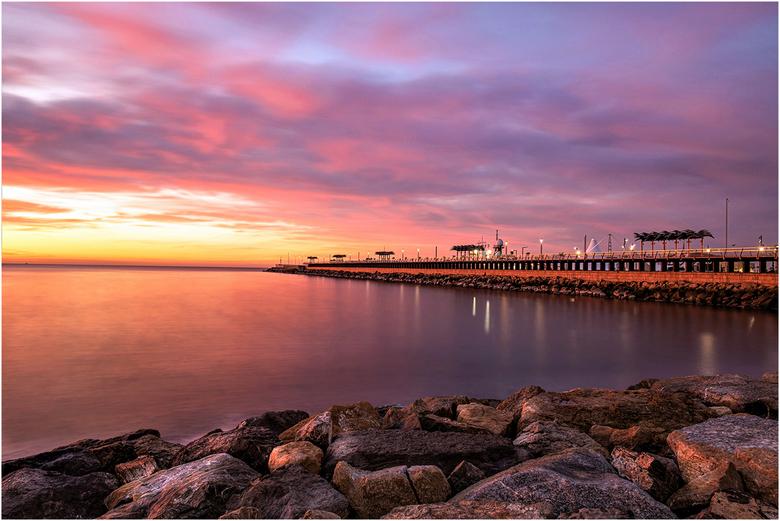 sunset pier Alicante - Sunset Alicante Spain