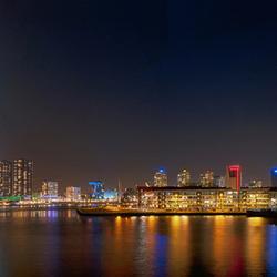 Panorama skyline Rotterdam hdr