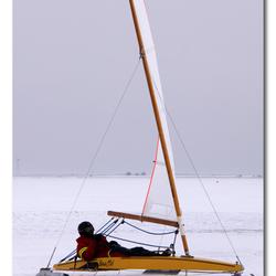 ijszeilen op de Gouwzee