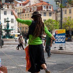Straat artiest in Lissabon