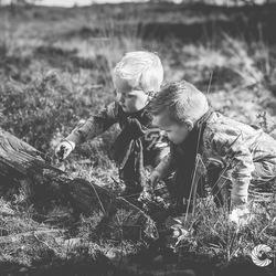 Samen spelen in het bos