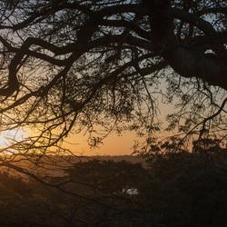 Zonsondergang in Zuid africa