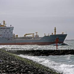 Scheepvaart in de monding van de Westerschelde
